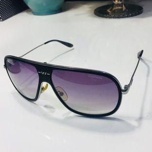 Accessories - Carrera Aviator Black/ Silver Sunglasses